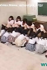 Classmates enjoying themselves a huge orgy