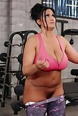 Overweight MILF enjoying hot sex at the local gym