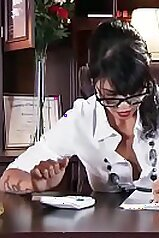 Dana Vespoli gets banged while at the office