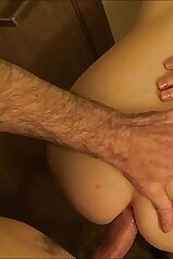 Cheating housewife takes big dick in her ass while husband is sleeping