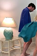 Stepson helps stepmom make an exercise video Erin Electra