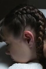 Braided beauty massaged and then fucked silly