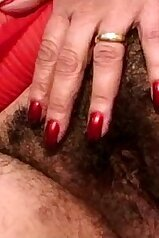 Grandmother is going to get her hairy cunt cummed on