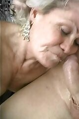 Old lady getting throated like a cheap fucking slut
