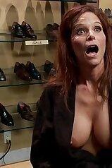 Anal orgasm video featuring a redheaded MILF