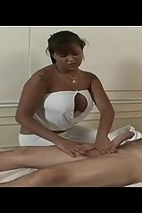 Babalu XXX video with a twisted handjob session