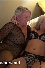 Gorgeous grannies making out with one another