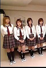 Japanese beauties examined by a horny doctor
