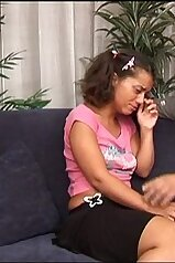 Crying little slut comforted by her own daddy