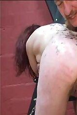 Masochist slut getting gaped by a creepy dude