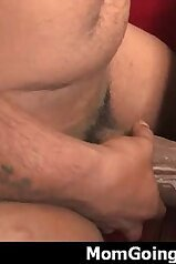 Big-dicked black guy fucking a hairy pussy mom