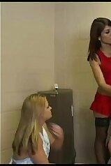 Handjob humiliation in a femdom porn clip