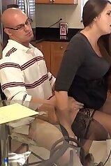 Madisin Lee riding her bald-headed stepson
