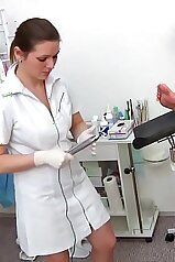 Gyno exam with a stunning pissing hottie in the ward