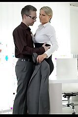 Passionate office porn action with a hot female
